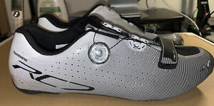 Shimano White RC7-SPD-SL Carbon Road Cycling Shoes - Size 47 - NEW INSERTS