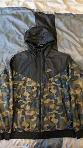 Nike Windrunner Jacke Kapuze M Camouflage