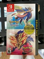 Pokemon Sword and Pokemon Shield Double Pack - Nintendo Switch (New) NO CODES