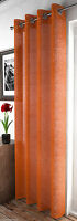 SHIMMER SPARKLES COPPER CINNAMON ORANGE ADELE VOILE NET  EYELET CURTAIN PANEL