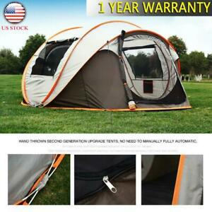 4-8 Person Waterproof Automatic Outdoor Instant Popup Tent Shelter Camping USA
