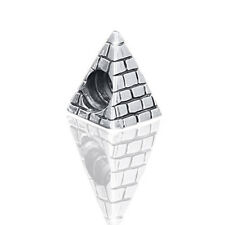 925 Silber Beads Pyramide antik Element Ägypten - Silber Charm für Armband