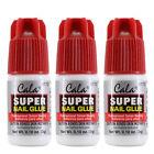 3PK CALA Super nail Glue,Nail Art,Clear Adhesive,For Fake Nail,Nail Decoration