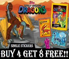 "TOPPS Totally Awesome Dragons SINGLE STICKERS ""BUY 4 GET 8 FREE"""