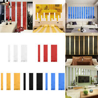5PCS Home Rectangle Acrylic Bar Mirror Wall Border Sticker Wallpaper Decor S,M,L