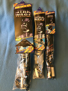 Lot of 3 STAR WARS Spectra Star Kite Wind Racer Super Flyer 1996 Toy Biz NEW