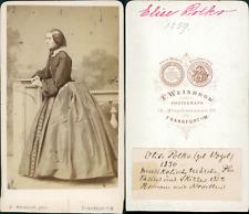 Elise Polko, deutsche Dichterin und Sängerin CDV vintage albumen carte de visite