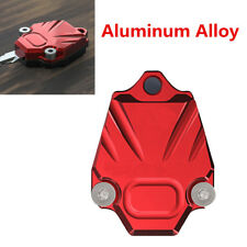 Aluminum Alloy Motorcycle Key Case Cover Accessories Spring Key Cover Red+Black