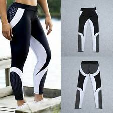 Donna Leggings Elastici Fitness Yoga Palestra Pantaloni Workout Corsa Esercizi