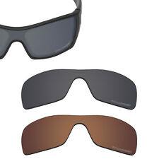 Anti-Salt Corrosion Replacement Lens for-Oakley Batwolf Sunglass Black and Brown