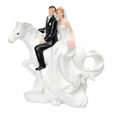 BRIDE AND GROOM on HORSE back - Cake Topper Figure Decoration WEDDING