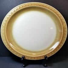 Syracuse China Econo Rim Oval Platter Cinnamon Restaurant Ware Brown Vintage