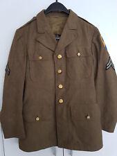 US WWII 1942 Uniform chaqueta infantería m. insignia original 2nd cavalry cabo