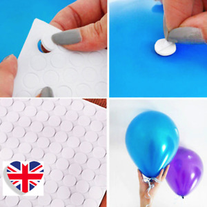 Balloon Stickers Stick-Ups Dots Adhesive Decorations Hang Attach Ceiling Wall UK