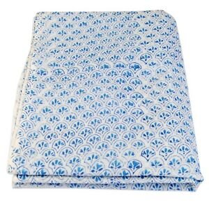 Indian Hand Block Floral Print Cotton Voile Fabric Dress Sewing Material 5 Yard