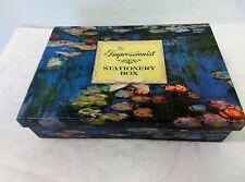 THE IMPRESSIONIST STATIONERY BOX 1998 W/TRAY DRAWER PAPER AND NOTELETS AND ENVEO