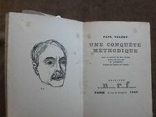 PAUL VALERY. UNE CONQUETE METHODIQUE.portrait gravé par G.AUBERT.EO.1/1500 ex.