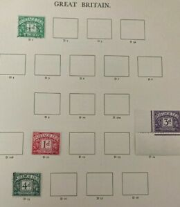 Stamps GB Postage Dues from Windsor Album Sheets