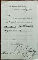Clydesdale Bank Limited Glasgow letter acknowledging Receipt of Payment 1901