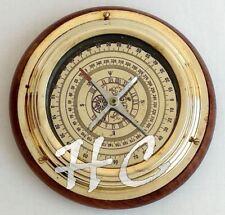 "Antique Brass Magnifying/Navigational/Magnetic 6"" Sailing Ship/Boat Desk Compa"