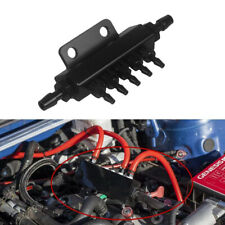 6 Port Car Vacuum Block Intake Manifold Fuel Gas Wastegate Turbo Boost Kit AL