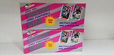 NFL 2 SET LOT 1991 Pacific Pro Football Plus Premier Edition Complete Set Boxes