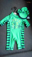 "M&s 2pc XTRALIFE SPF40+ Nice To Sea vous ""Sun maillot de bain 4-5y 110 cm greenmix BNWT"