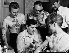 Woman Getting a Tattoo - 1950s - Historic Photo Print