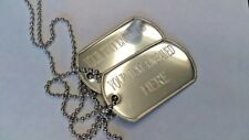 Personalised-Metal-Military-Army-Dog-Tags-&-Necklace-Engraved Gift