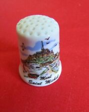 Dé a coudre de collection en porcelaine MONT SAINT MICHEL