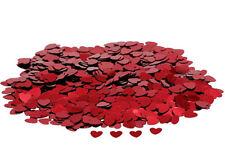 Ruby Red Heart Wedding Confetti Table Decoration Birthday Love FREE UK P&P