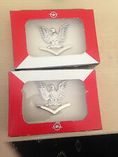 (2) HILBORN Hamburger US Navy Petty Officer 3rd Class Pin Pins USN Adler Flügel