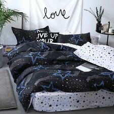 Stay Blue Printing Bedding Set Duvet Quilt Cover+Sheet+Pillow Case Four-Piece