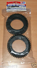 Tamiya 53088 4WD Square Spike Front Tires/Tyres (Gravel Hound/Neo Scorcher) NIP