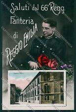 Reggio Emilia città Militari Saluti da Foto cartolina QK0266