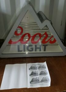 Coors Light Mountain Shaped Stainless Steel Mini Fridge Cooler W/ Light- NO BOX