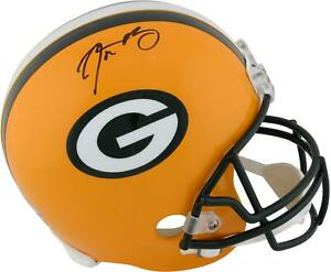 Aaron Rodgers Green Bay Packers Signed Riddell Replica Helmet - Fanatics