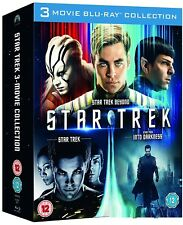 STAR TREK 2009+2013+2016 - MOVIES 11+12+13 BLU-RAY - INTO DARKNESS+BEYOND - NEW