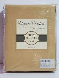 Luxury 1500 Thread Count Wrinkle Resistant Bed Skirt Dust Ruffle Full Gold
