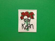 HEAVY METAL PUNK ROCK MUSIC FESTIVAL SEW ON / IRON ON PATCH:- KORN SKULLS ROSES