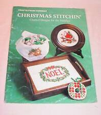 CRAFTS FROM CURRENT CHRISTMAS STITCHIN COUNTED CROSS STITCH PATTERN BOOK