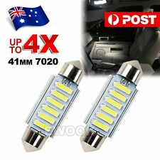 4X 12V 6 LED 7020 FESTOON CAR UTE 4WD INTERIOR DOME MAP LIGHT GLOBE BULB 41MM