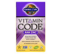 NEW GARDEN OF LIFE VITAMIN CODE RAW ZINC WHOLE FOOD SUPPLEMENT BODY CARE HEALTHY