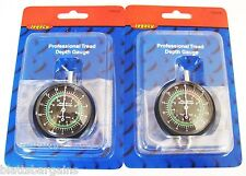 2 LEGACY PROFESSIONAL TIRE TREAD DEPTH GAUGE GAUGES DIAL TYPE 1/32 MM TH0335