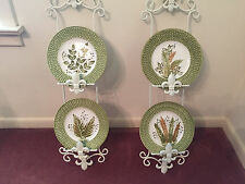 Set of 4 beautiful J. Willfred ceramic plates made in Portugal.