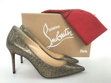 d8586632fe71 Christian Louboutin Decollete Metallic Mesh Glitter Pointy Toe Pump 36 6