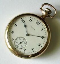 Vintage Elgin Pocket Watch 16 size 15 jewels Gold filled case RUNS