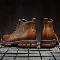 Men's Retro Casual Boots Martin Boots Chelsea Leather Shoes Sneakers Waterproof
