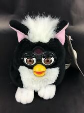 Vintage 1999 Furby Buddies Black And White Beanie Bean Bag Plush RARE