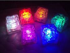 5pcs Party Favors Rainbow Neon Wedding Multi Color Flash Led Light-up Ice Cubes